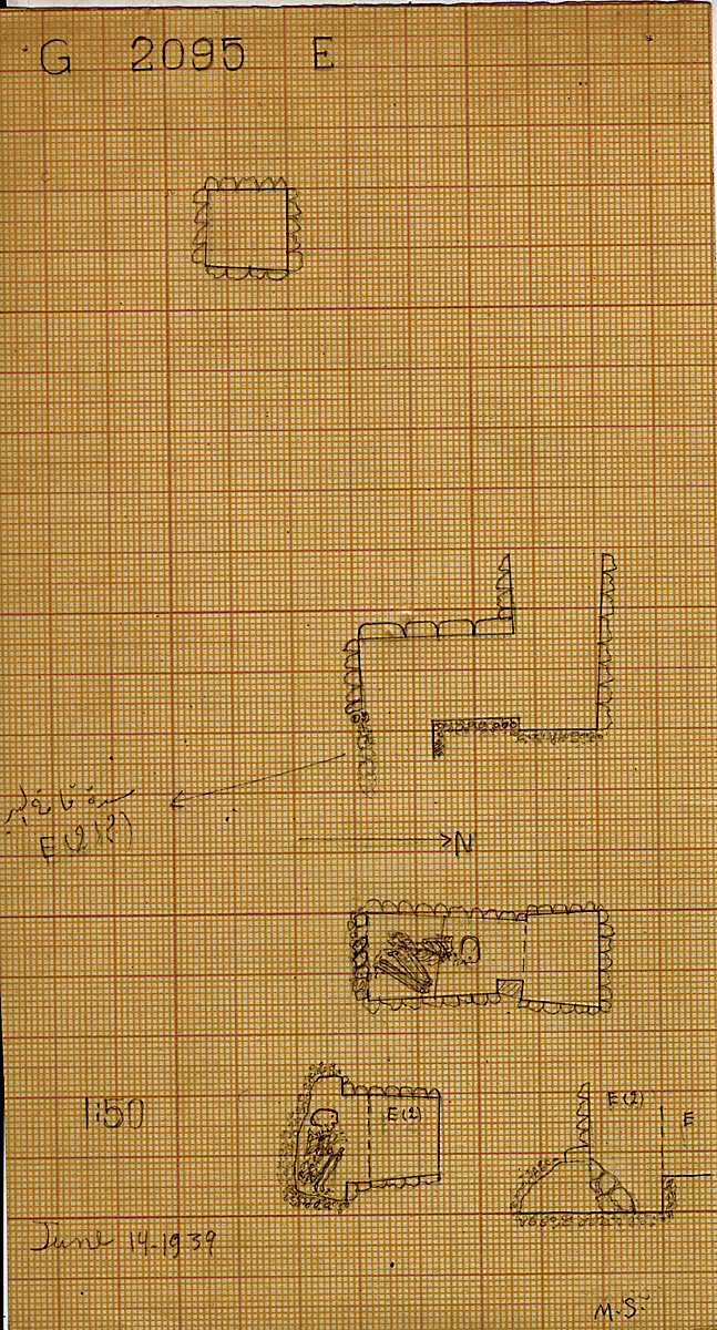Maps and plans: G 2095, Shaft E