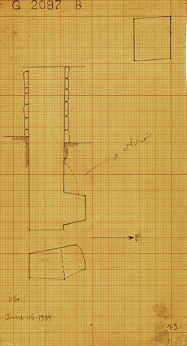 Maps and plans: G 2097', Shaft B
