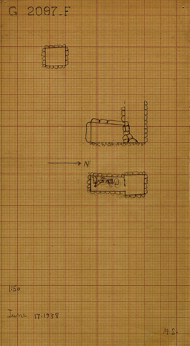 Maps and plans: G 2097', Shaft F