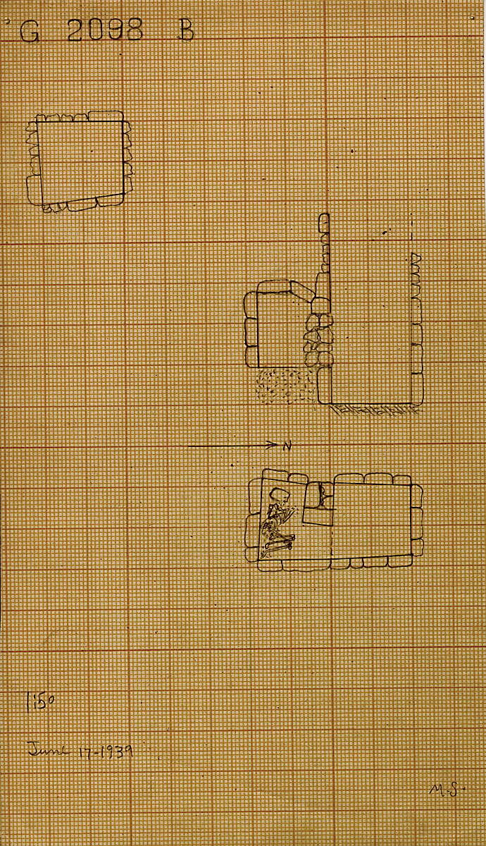 Maps and plans: G 2098, Shaft B
