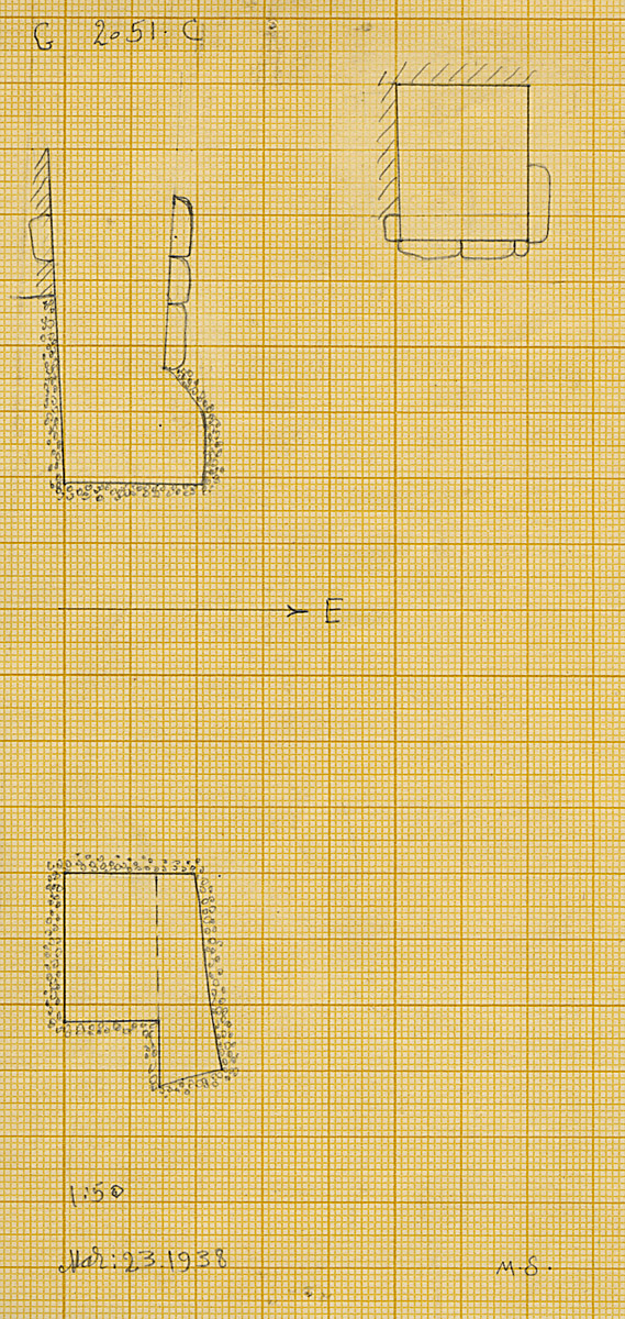 Maps and plans: G 2051, Shaft C