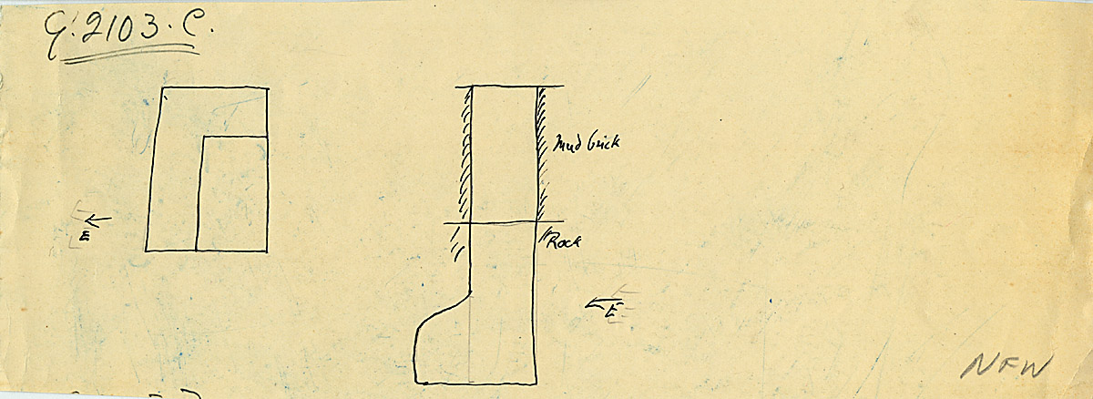 Maps and plans: G 2103, Shaft C