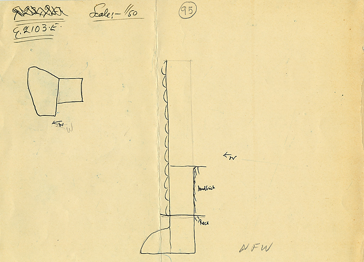 Maps and plans: G 2103, Shaft E