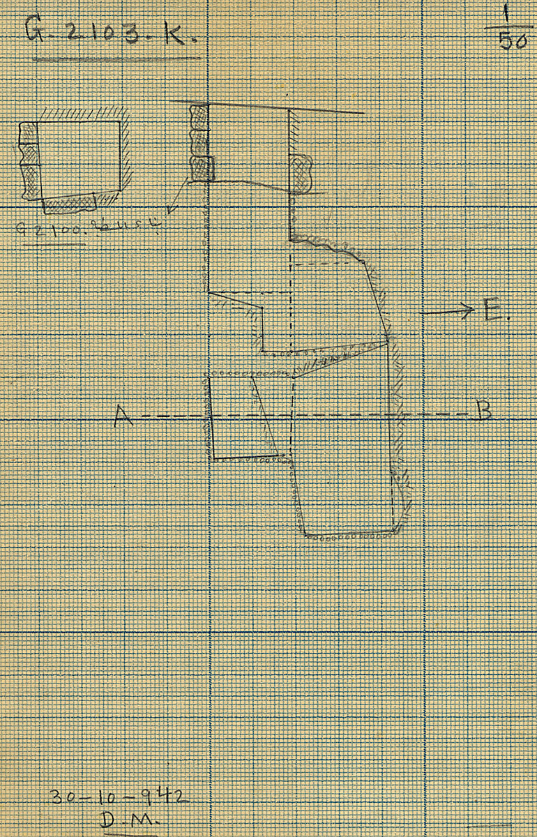 Maps and plans: G 2103, Shaft K