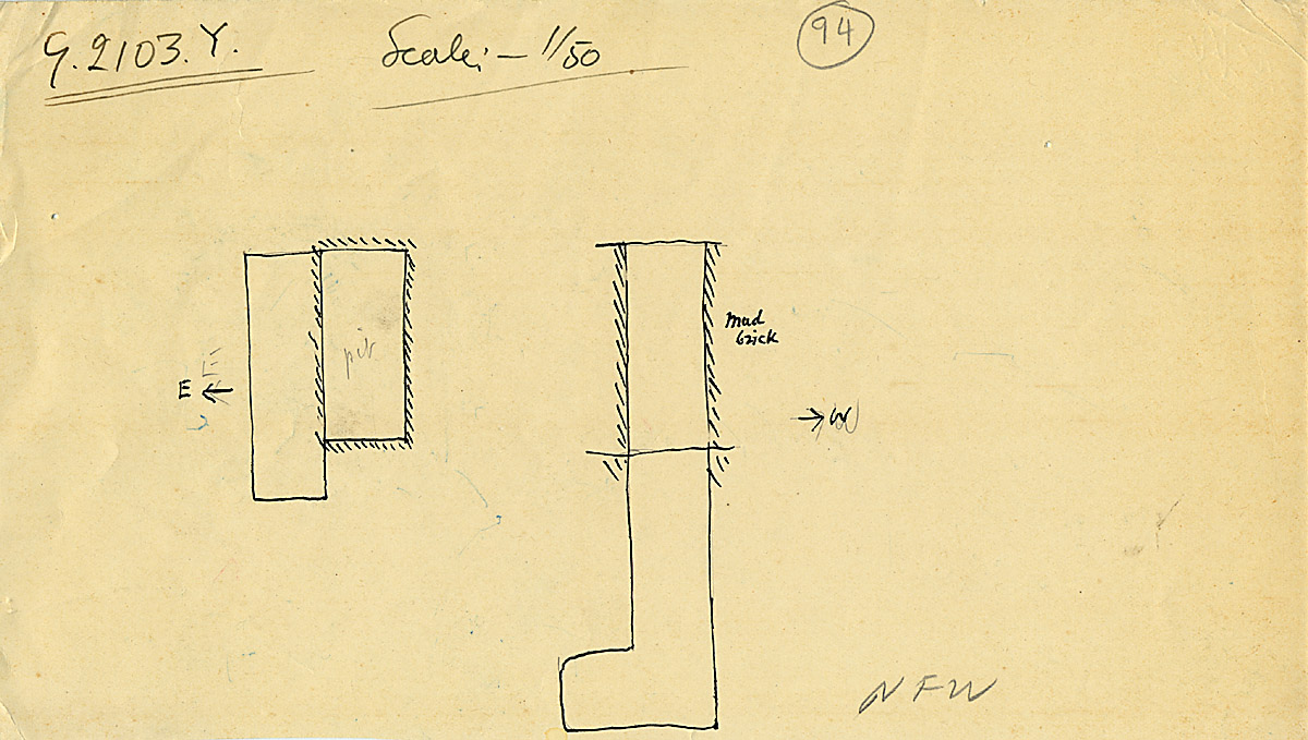 Maps and plans: G 2103, Shaft Y