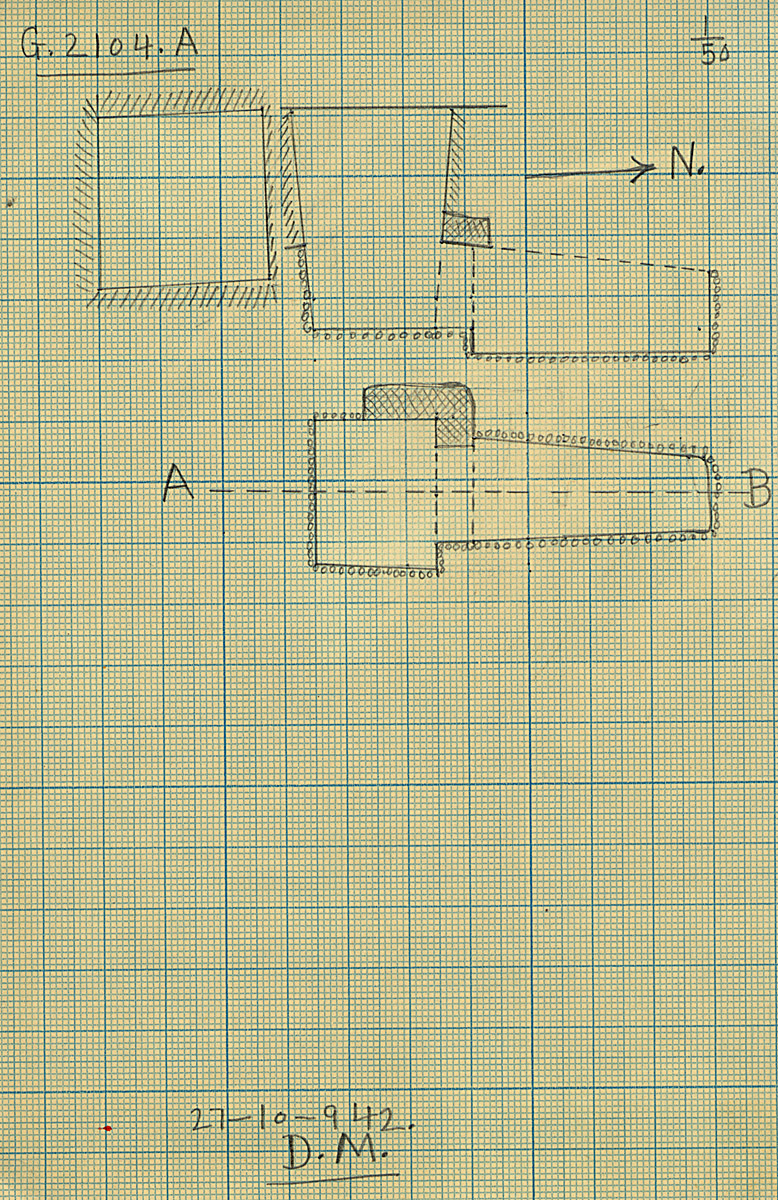 Maps and plans: G 2104, Shaft A