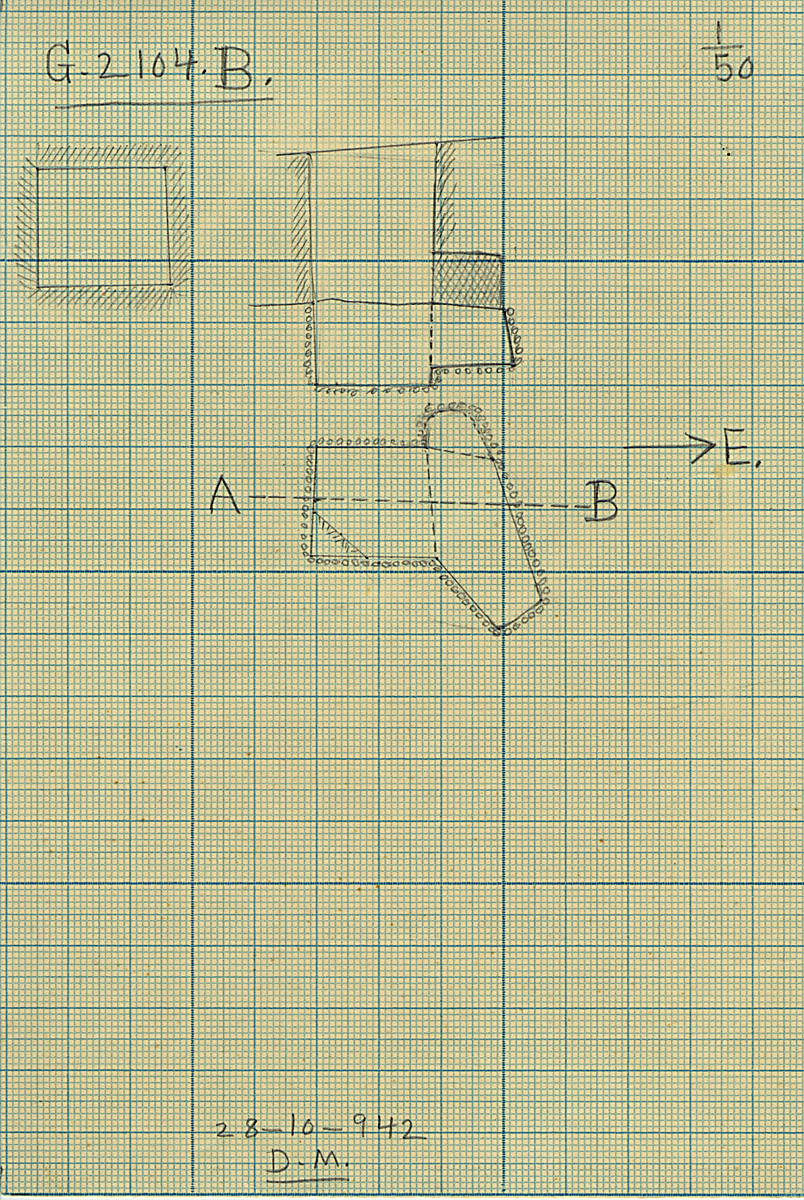 Maps and plans: G 2104, Shaft B