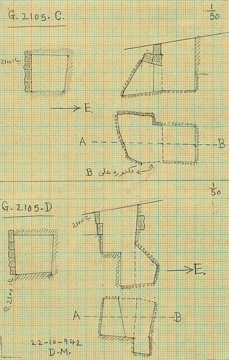 Maps and plans: G 2105, Shaft C and D