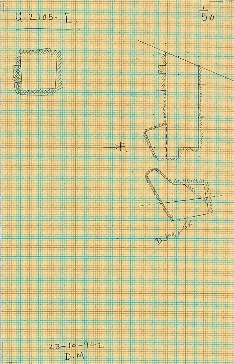 Maps and plans: G 2105, Shaft E