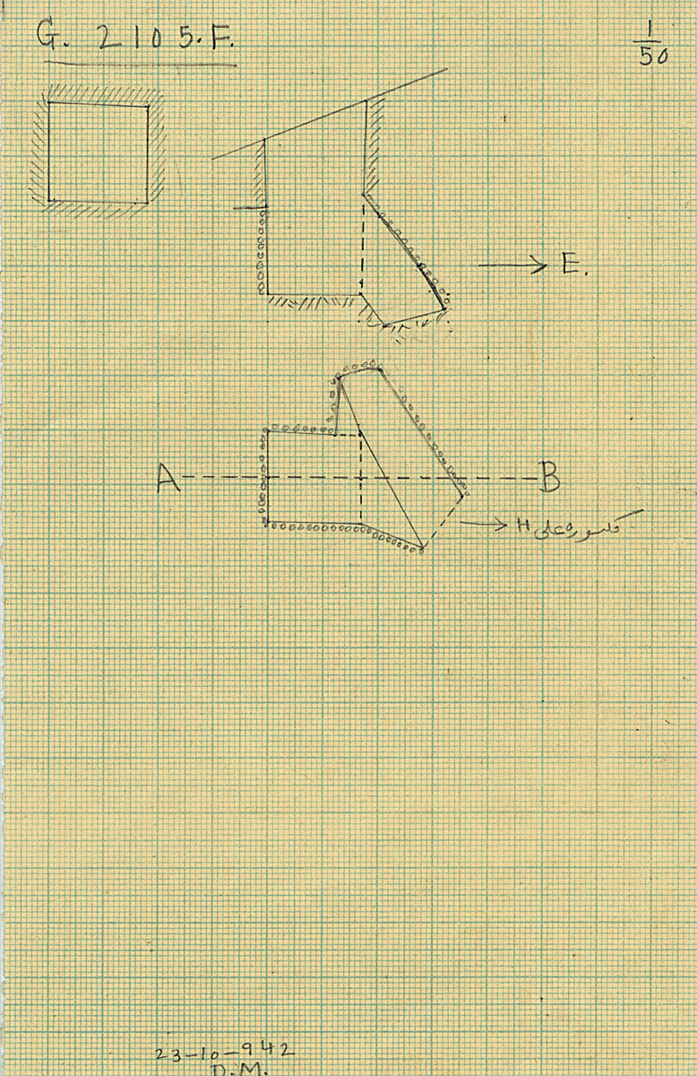 Maps and plans: G 2105, Shaft F