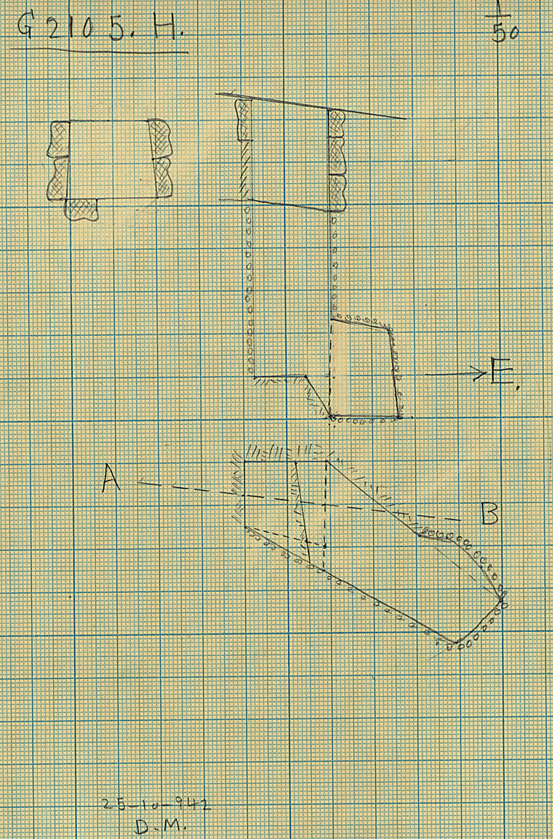 Maps and plans: G 2105, Shaft H
