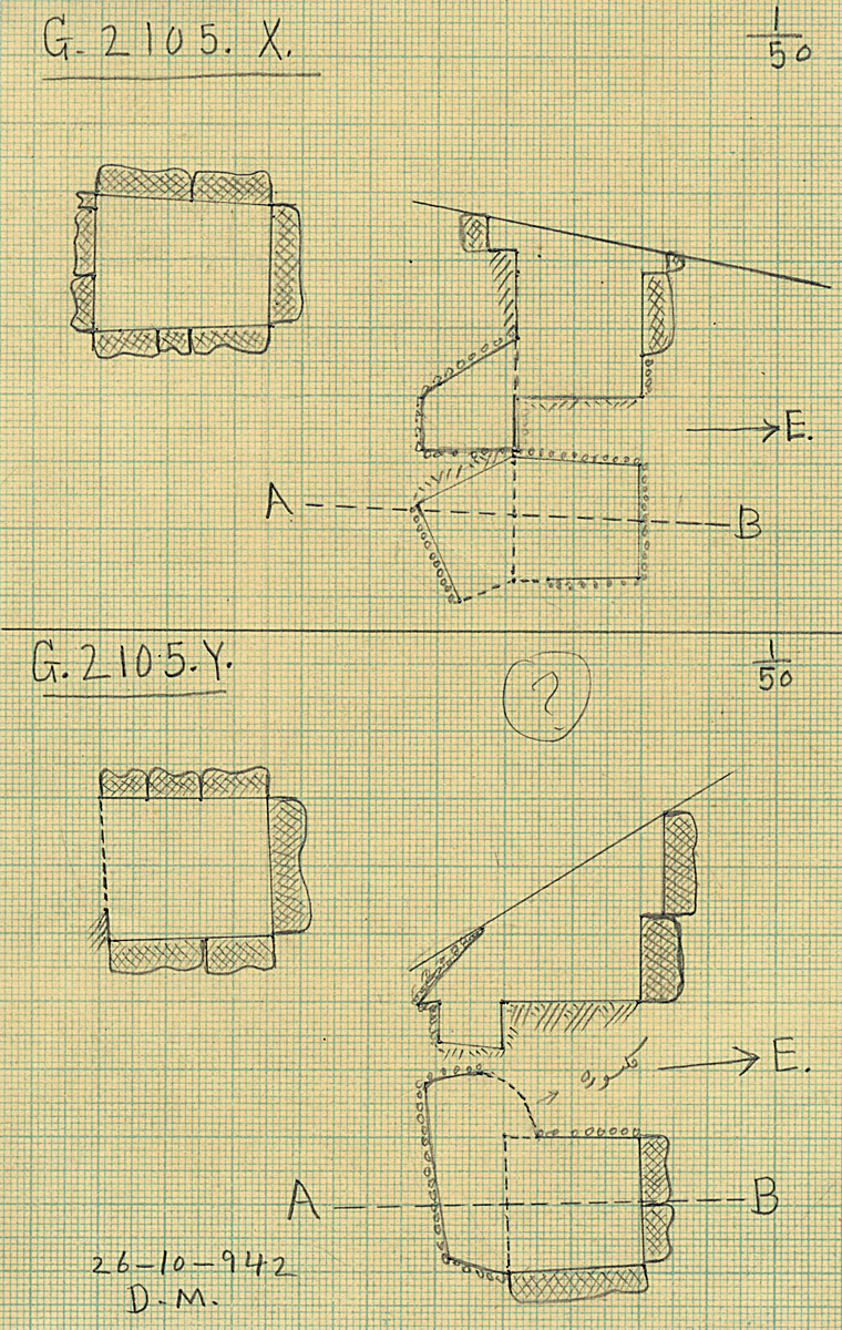 Maps and plans: G 2105, Shaft X and Y