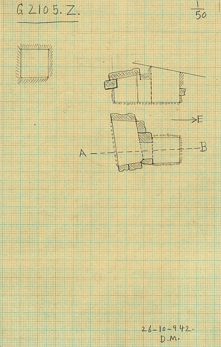 Maps and plans: G 2105, Shaft Z