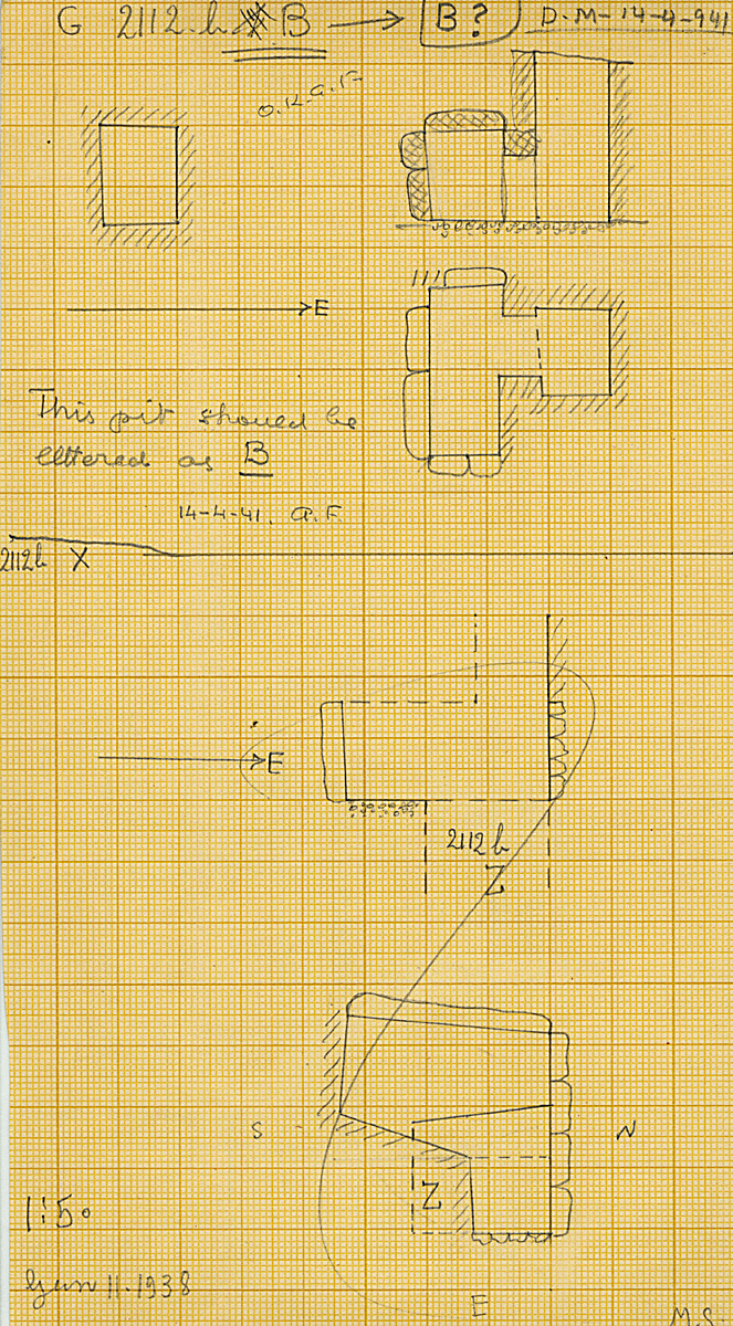 Maps and plans: G 2112b, Shaft B and X