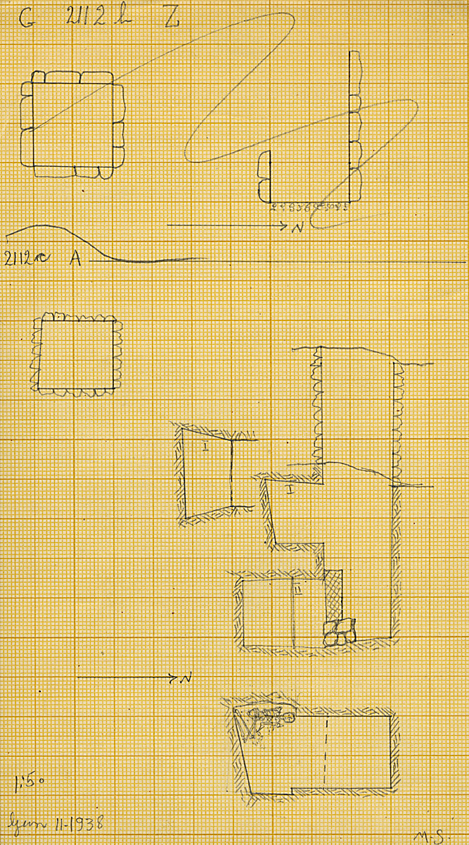 Maps and plans: G 2112b, Shaft Z & G 2112c, Shaft A