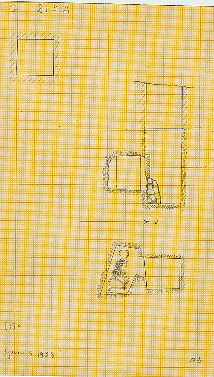 Maps and plans: G 2113, Shaft A