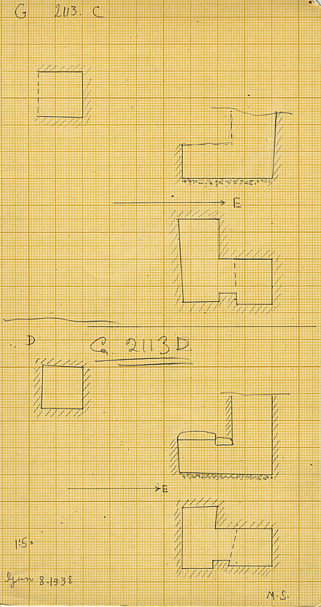 Maps and plans: G 2113, Shaft C and D