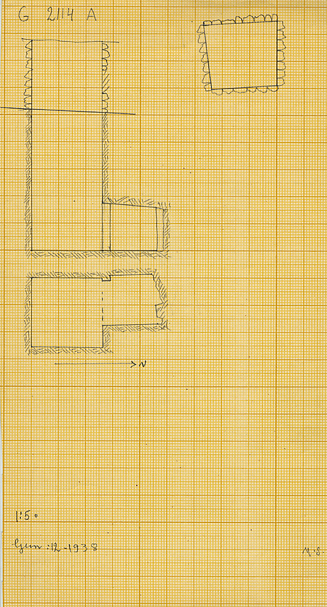 Maps and plans: G 2114, Shaft A