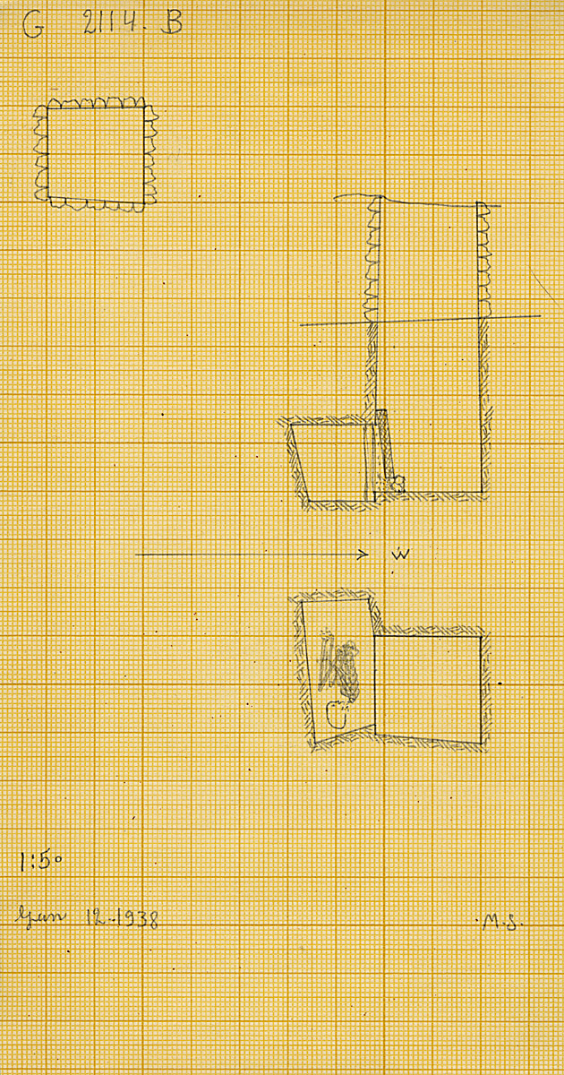 Maps and plans: G 2114, Shaft B