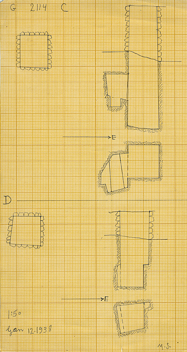 Maps and plans: G 2114, Shaft C and D