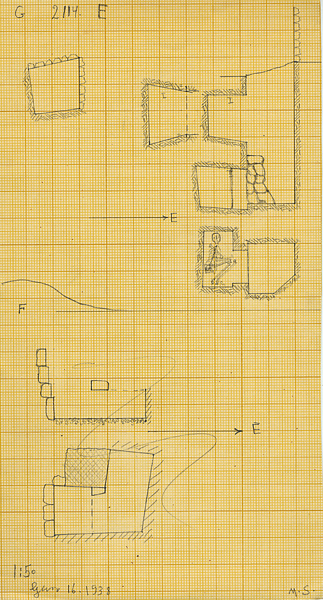 Maps and plans: G 2114, Shaft E and F