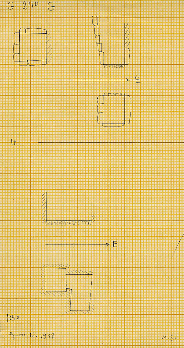 Maps and plans: G 2114, Shaft G and H