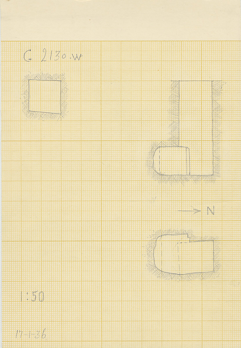Maps and plans: G 2130, Shaft W