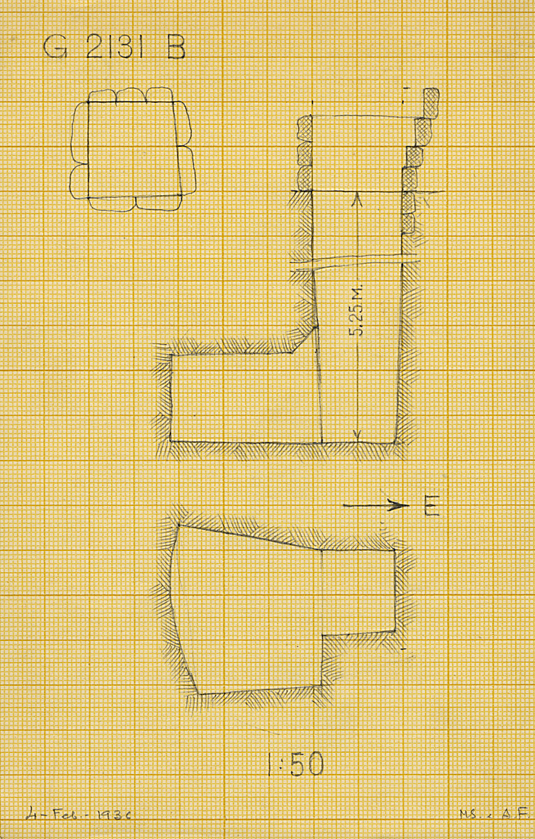 Maps and plans: G 2131, Shaft B