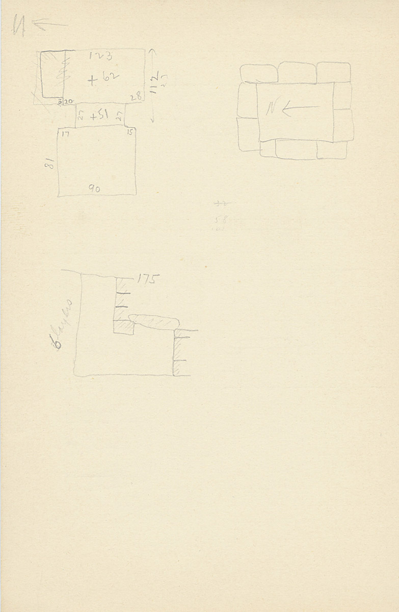 Maps and plans: G 2133, Shaft B, notes
