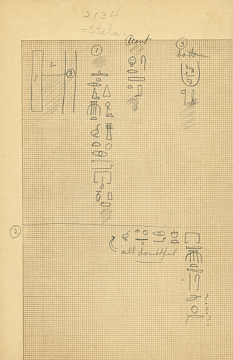 Drawings: G 2134, Reused false door inscription