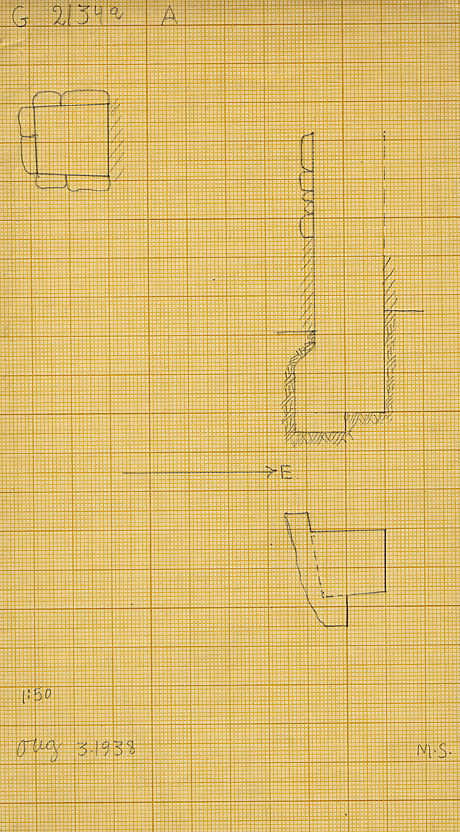 Maps and plans: G 2135' = G 2134a, Shaft A