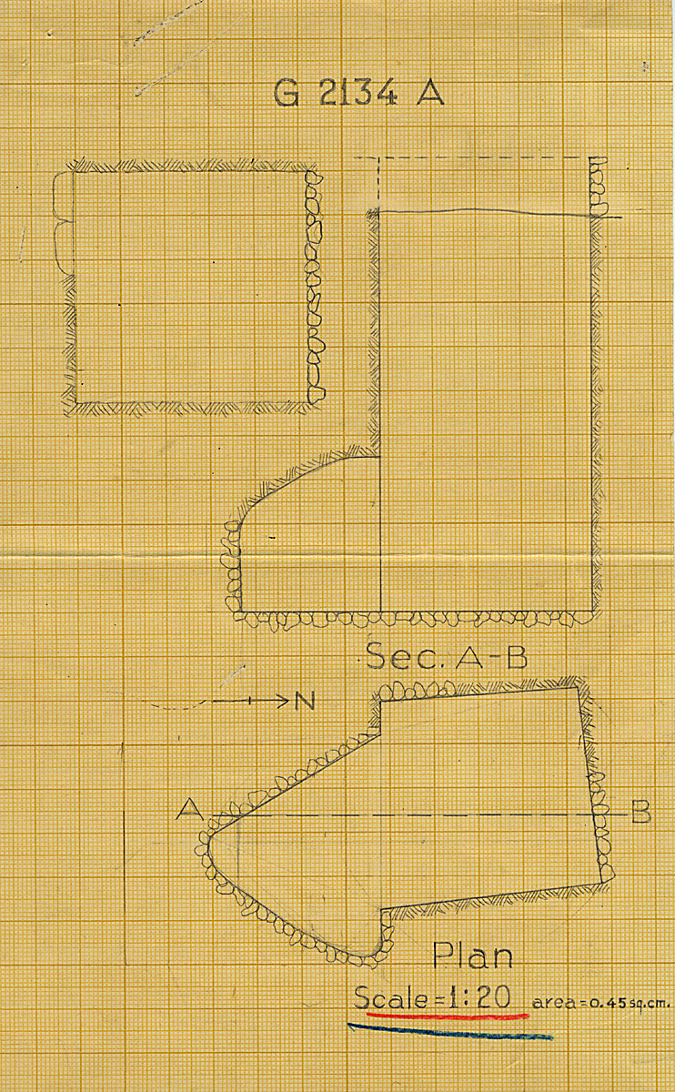 Maps and plans: G 2134, Shaft A