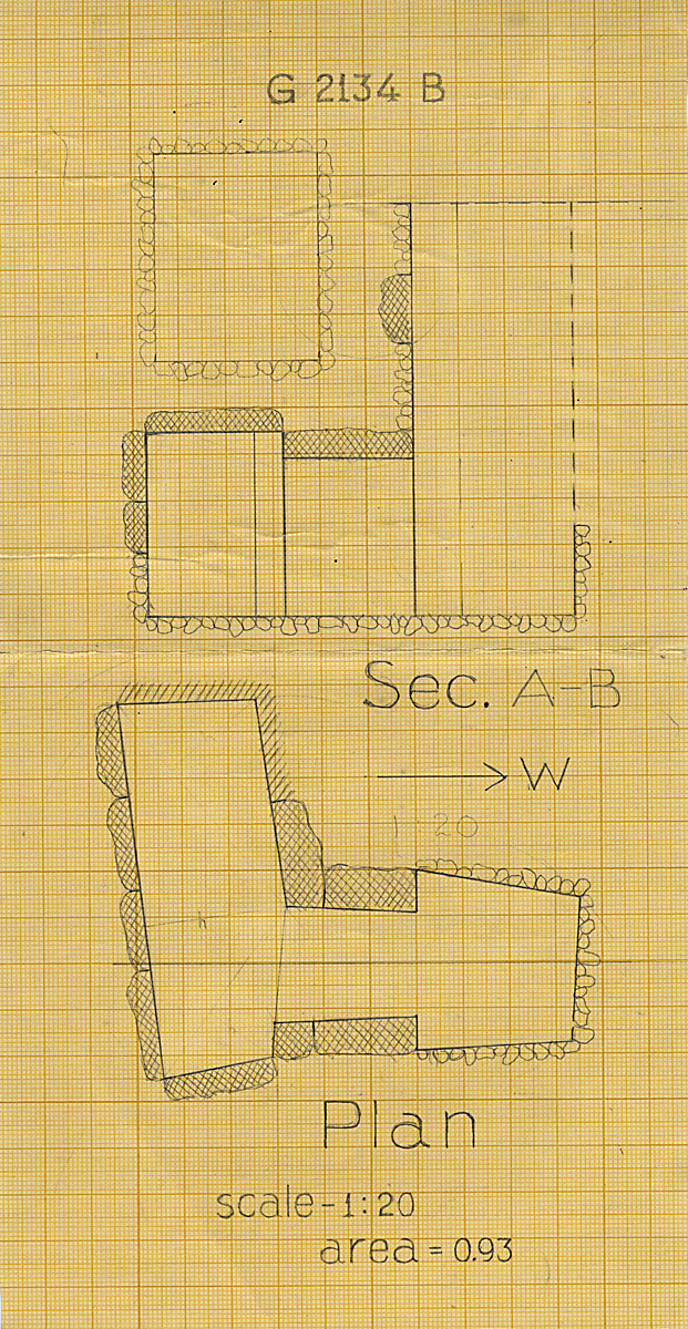 Maps and plans: G 2134, Shaft B