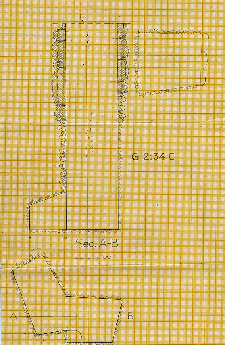 Maps and plans: G 2134, Shaft C