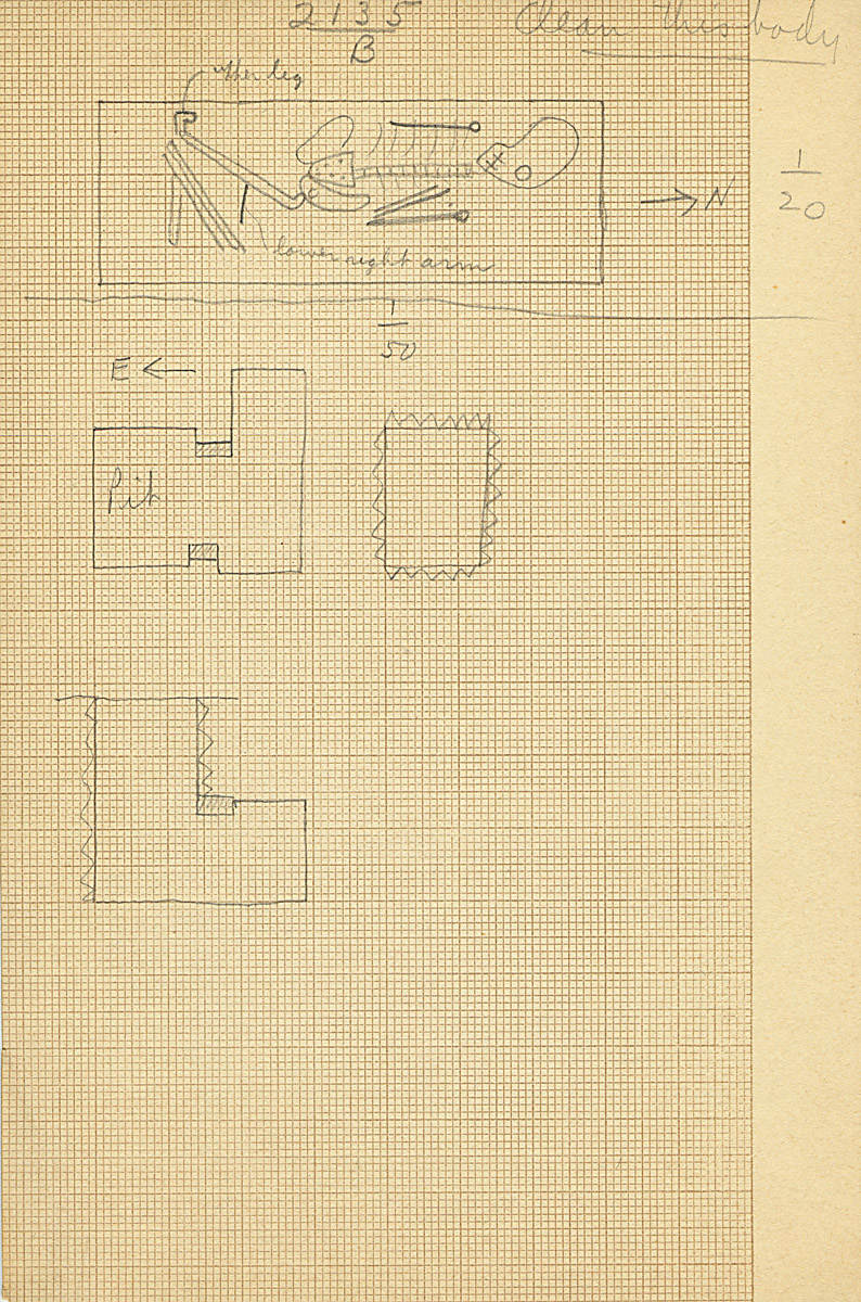 Maps and plans: G 2135' = G 2134a, Shaft B