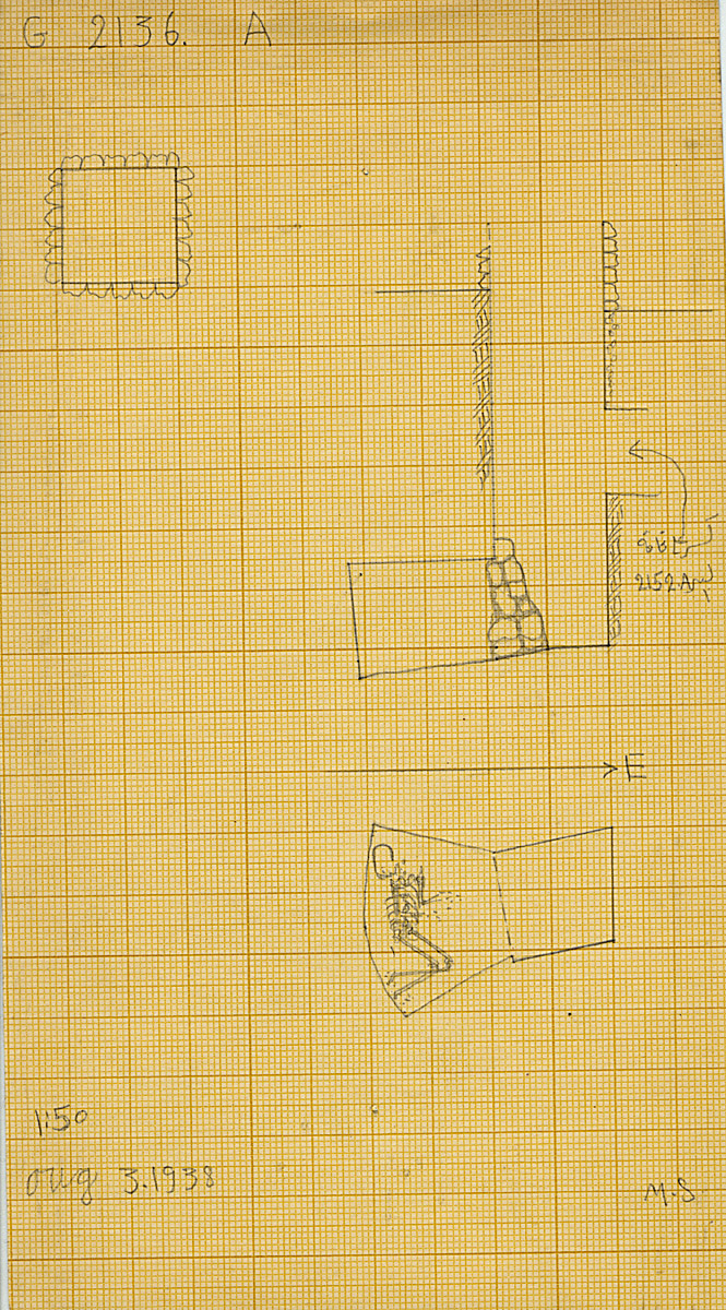 Maps and plans: G 2136', Shaft A