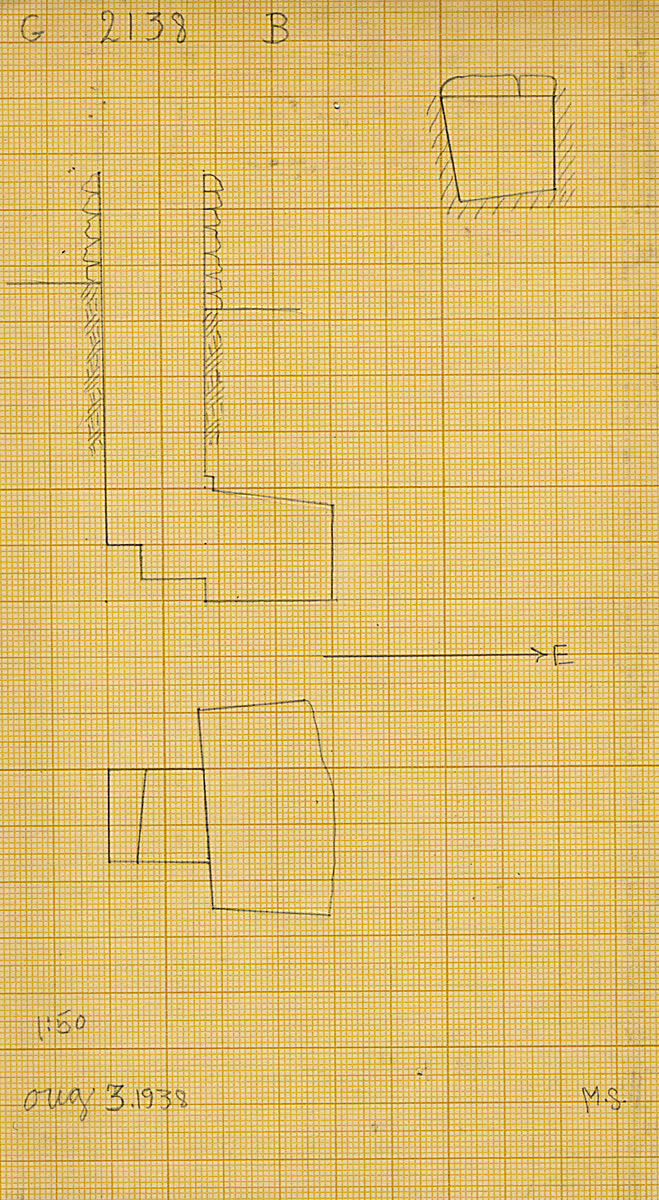 Maps and plans: G 2138, Shaft B