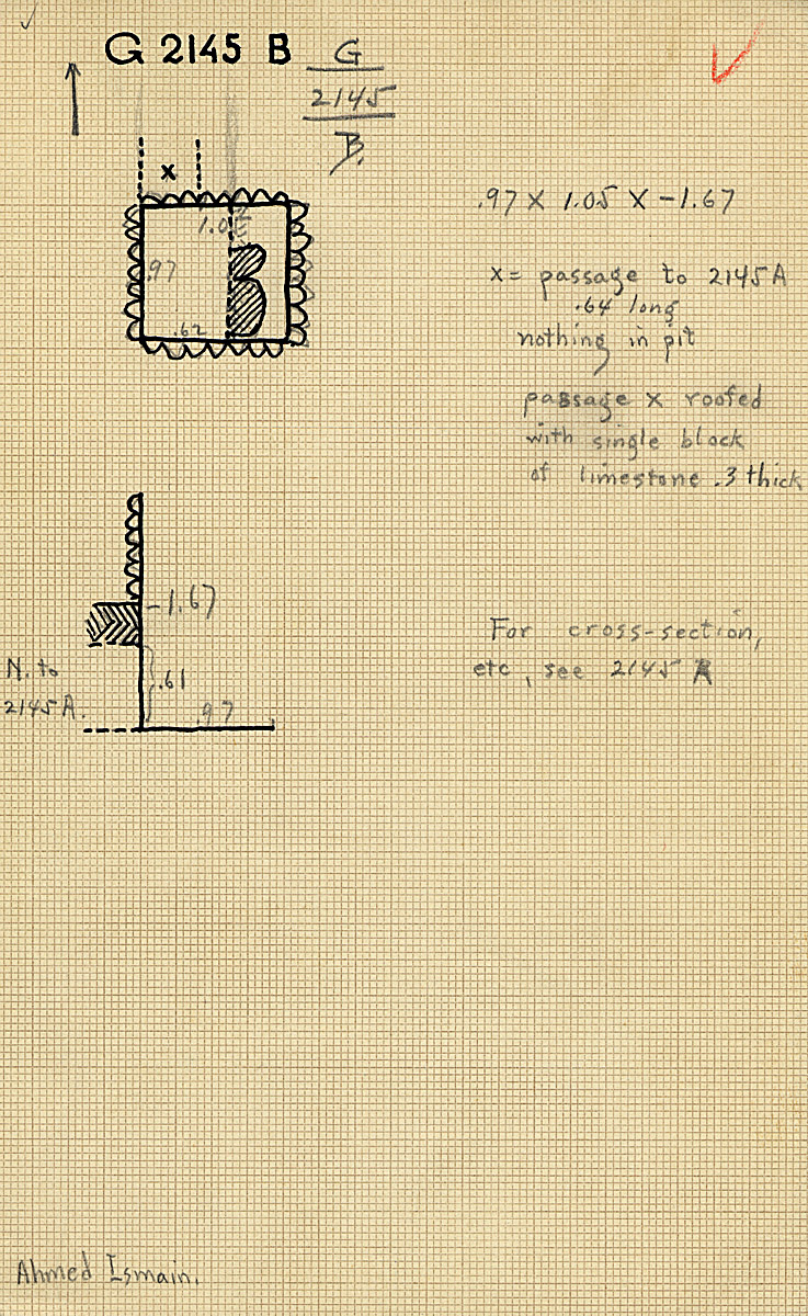 Maps and plans: G 2145, Shaft B