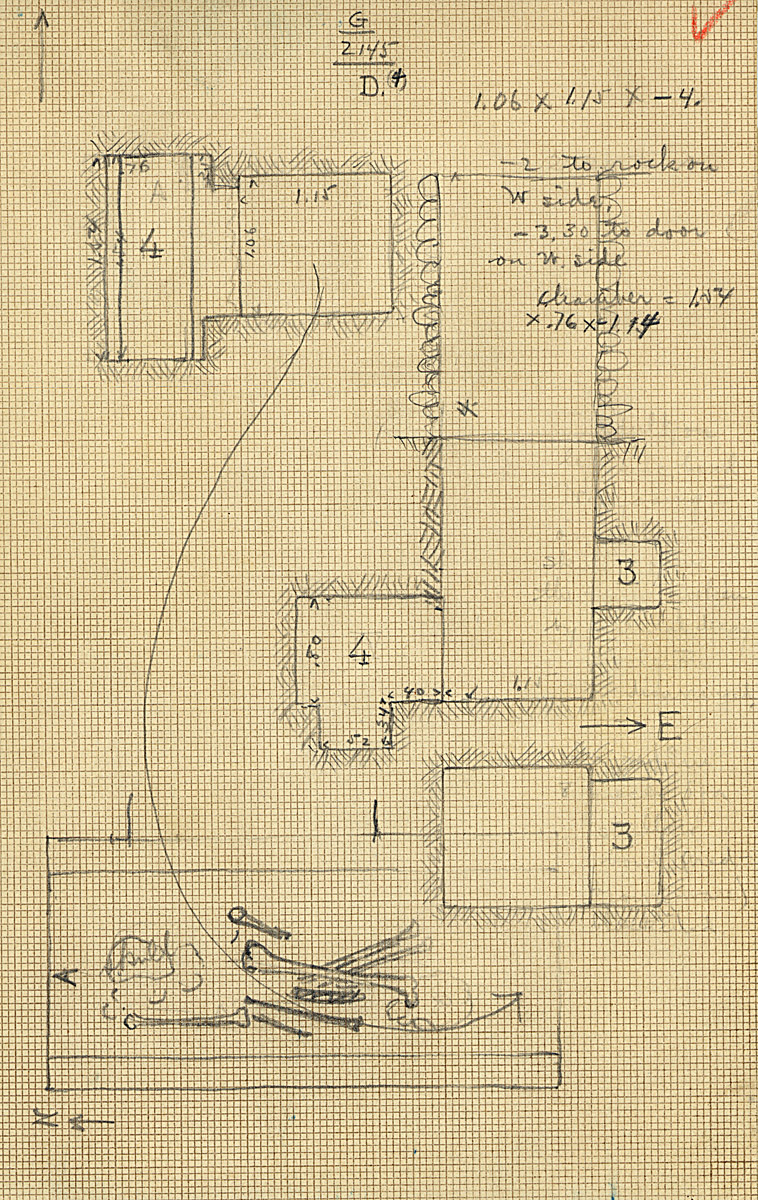Maps and plans: G 2145, Shaft D4