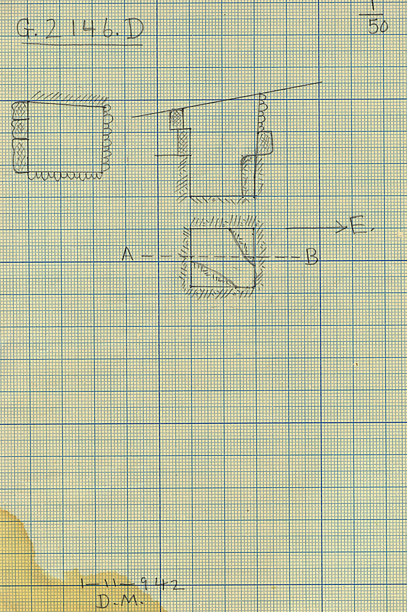 Maps and plans: G 2146, Shaft D