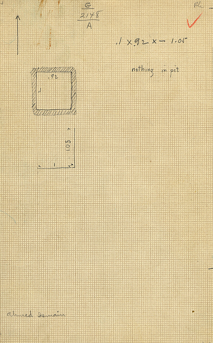 Maps and plans: G 2148, Shaft A