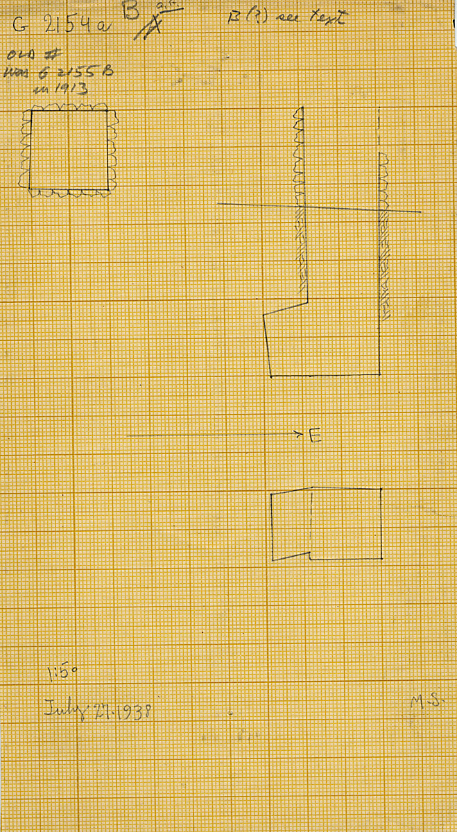 Maps and plans: G 2154a, Shaft B