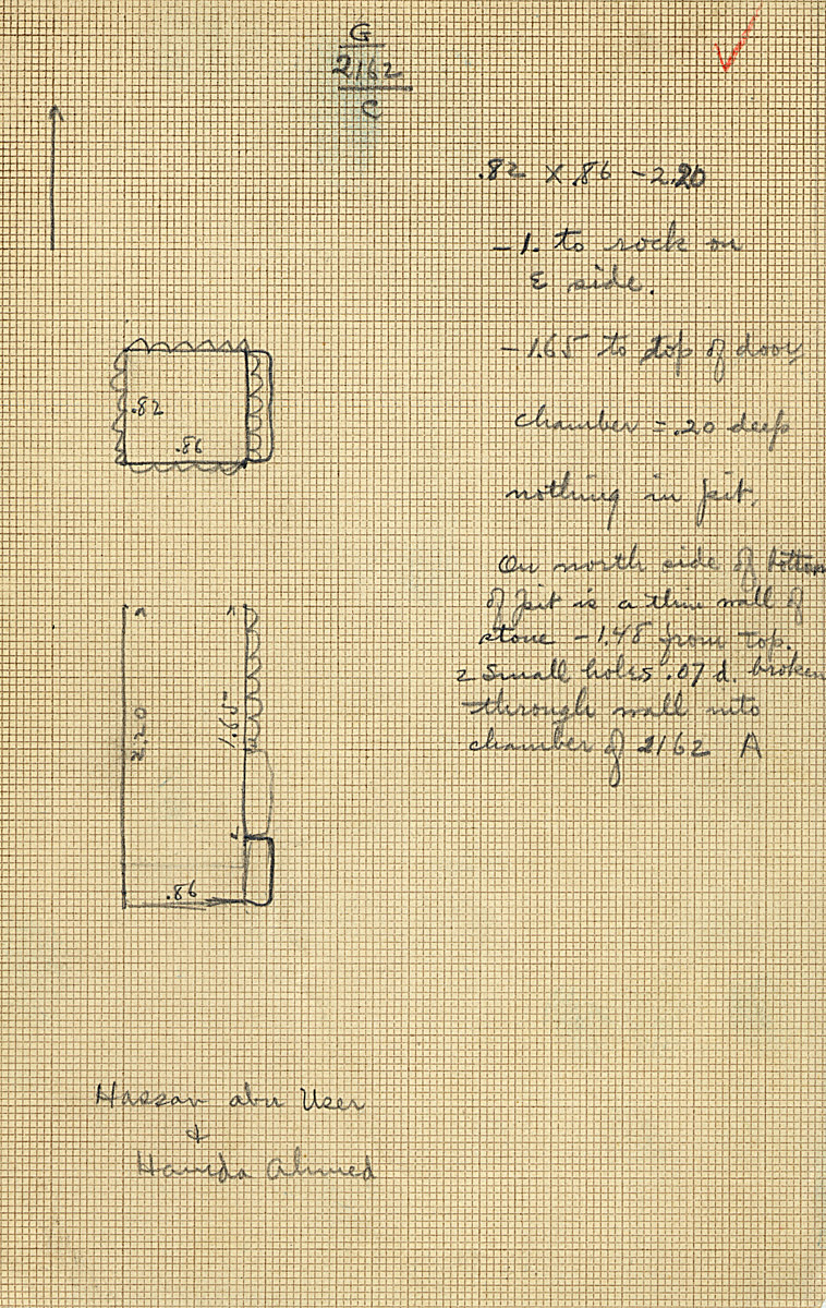 Maps and plans: G 2162, Shaft C