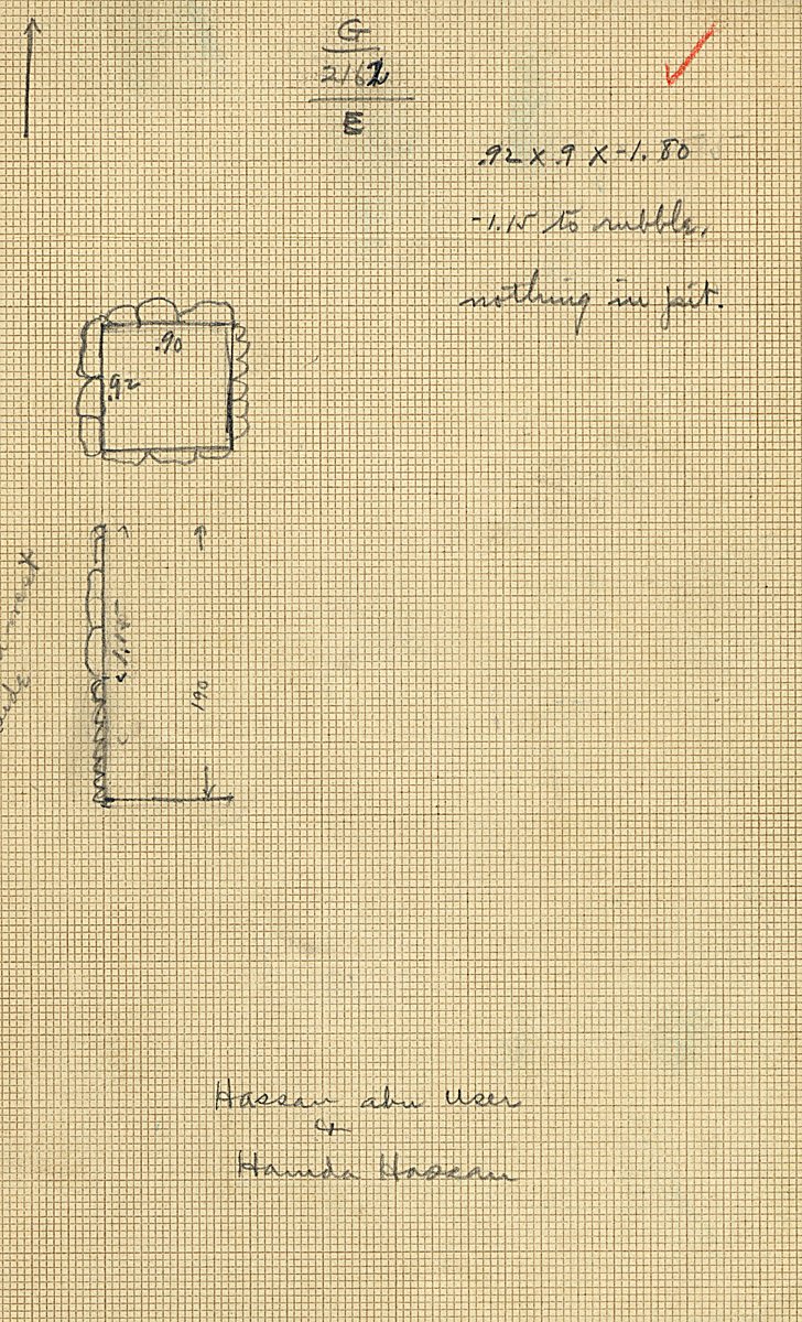 Maps and plans: G 2162, Shaft E