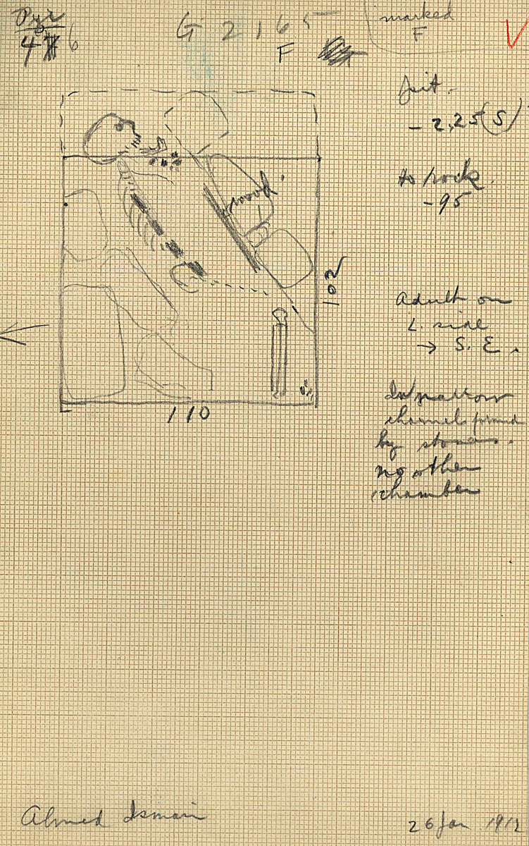 Maps and plans: G 2165, Shaft F