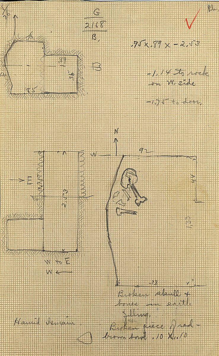 Maps and plans: G 2168, Shaft B