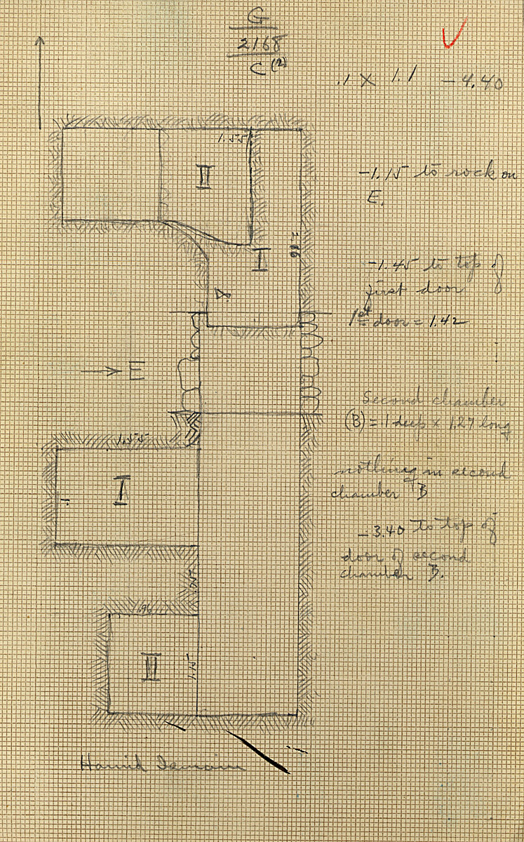 Maps and plans: G 2168, Shaft C