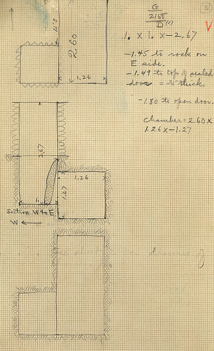 Maps and plans: G 2168, Shaft D