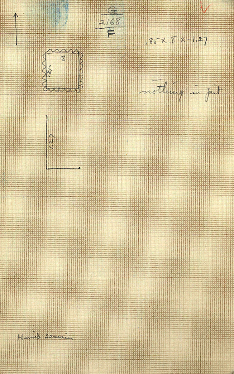 Maps and plans: G 2168, Shaft F