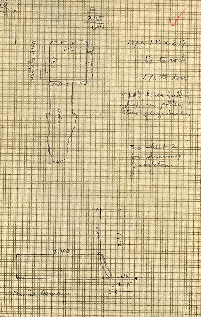 Maps and plans: G 2168, Shaft U